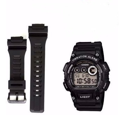 Pulseira Relógio Casio W-735h Ae1000w Cor Preto