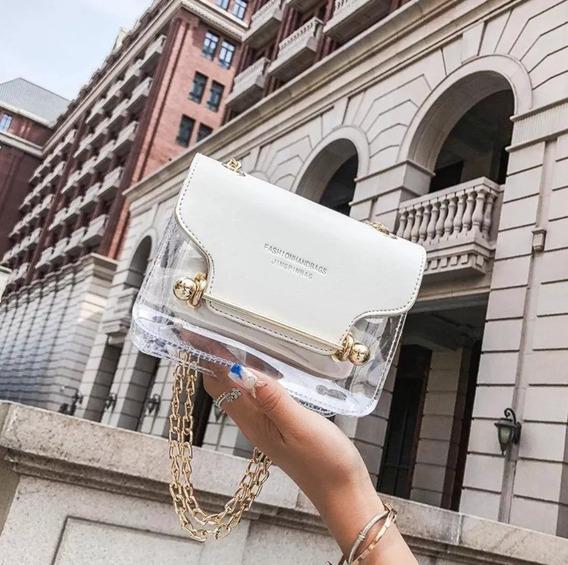 Bolsa Feminina De Luxo Com Alça Dourada