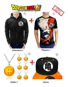 Goku Dragon Ball + Sudadera + Gorra + Playera + Collar Esfer