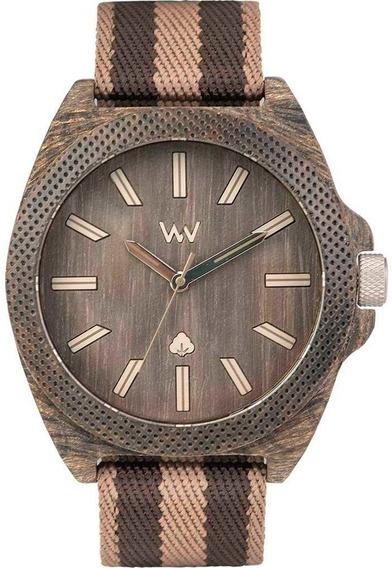 Relógio De Madeira Wewood Phoenix 46 Wenge Earth - Wwph05