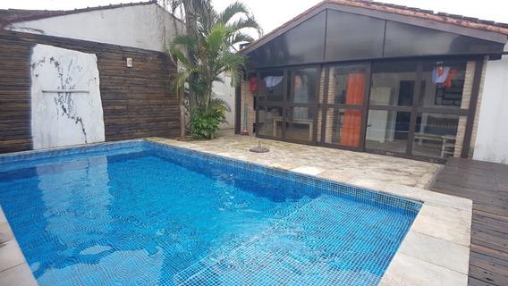 4095-casa Isolada Lado Praia Com Piscina 3 Dormitórios