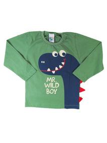 Camiseta Infantil Menino Manga Longamr Wild Boy - Big Day