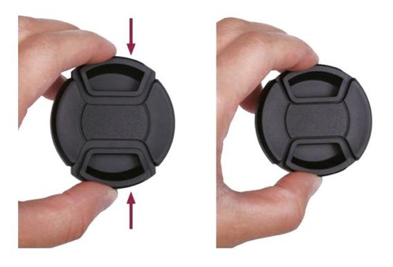 Tampa De Lente Frontal 67mm Fuji Nikon Canon Sony Com Corda