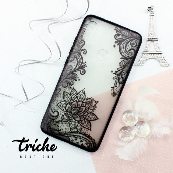 Funda Case Flor Loto Dama Negro Vintage Xiaomi Redmi S2