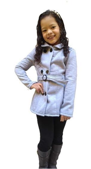 Blusa Infantil Menina Frio Moletom 1 A 8 Anos Sobretudo