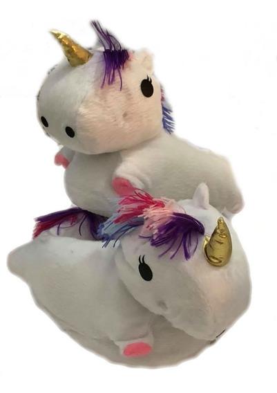 Pantuflas Unicornio Con Luces !!! Con Suelda Antideslizante