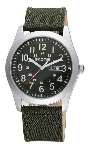 Relógio Verde Skone 6162 Sport Pronta Entrega