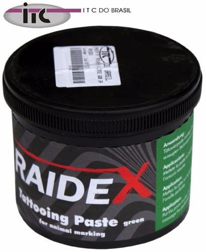 Imagem 1 de 1 de Pasta Para Tatuagem Verde 600g - Raidex