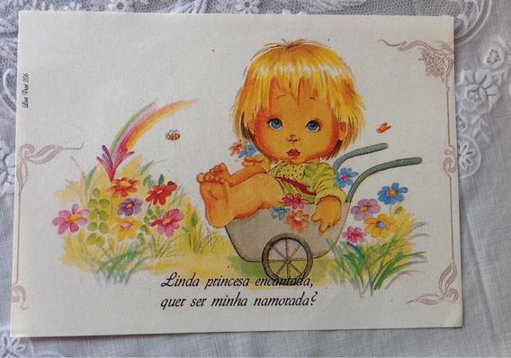 Lote De Papéis De Carta Antigos Love Print Anos 80/90