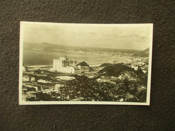 2192-postal Antigua Brasil Praia Copacabana Palace Hotel