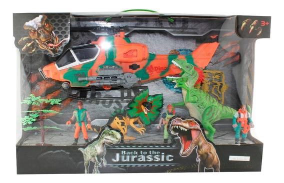 Dinosaurios 5 Figuras Play Set 3 Con Accesorios En Caja