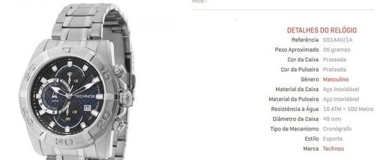 Relógio Masculino Technos Original Com Caixa Personalizada