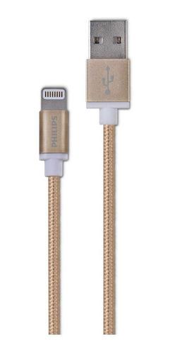 Imagen 1 de 2 de Cable De Carga iPhone Philips Dlc2508g Trenzado - Revogames