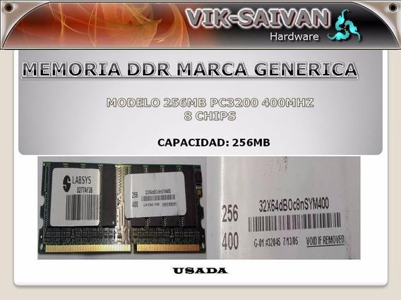 Memoria Ddr Generica 256mb Pc-3200 400mhz 8 Chips 38