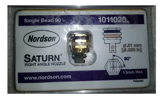 Bico Saturno Nordson .020 In .51 Mm 1011020 Single Bead 90°