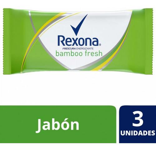 Jabon Desodorante Rexona Bamboo Fresh 3x125 Barra