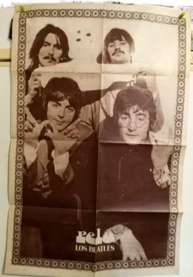 The Beatles Poster Doble 82 X 56 Cms Revista Pelo