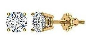 Imagen 1 de 4 de Pendientes De Diamantes Para Mujeres, Hombres, Talla Redonda