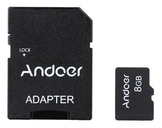 Andoer 8gb Classe 10 Cartão Memória Tf Cartão + Adaptador #