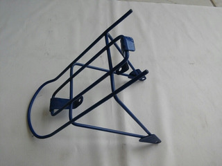 Raro Bagageiro Bicicleta Antiga Caloi Cecizinha Aro 16 Azul