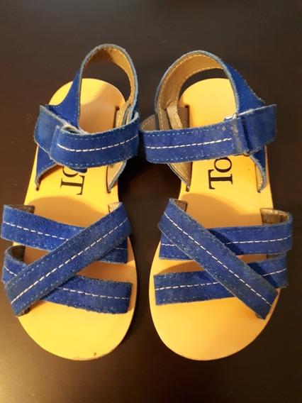 Sandalias Nena Azules Gamuza Toot N ° 27