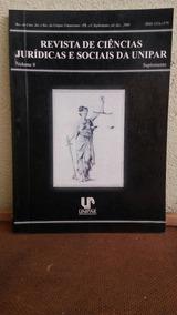 Revista De Ciências Jurídicas E Sociais Da Unipar Volume 8
