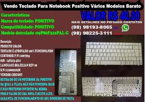 Teclado Para Notebook Positivo 09p86f510pal-g / 82r-14g223-4