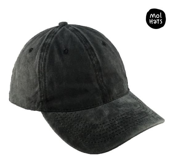 Gorra Vintage Denim 100% Algodón Variedad Pre Lavada Calidad Premium Cierre Ajustable Con Hebilla Metálica Visera Curva