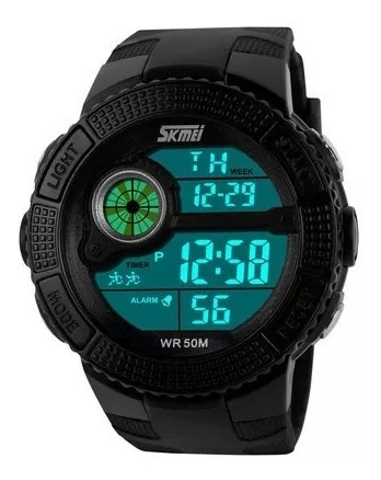 Relógio Digital Skmei Cronômetro Alarme Masculino Pedômetro