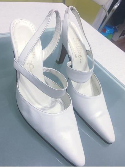 Zapatos Blancos Casamiento Talle 35/36