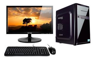 Pc Escritorio Completa Intel 4gb 500gb Wifi Bocinas Led16