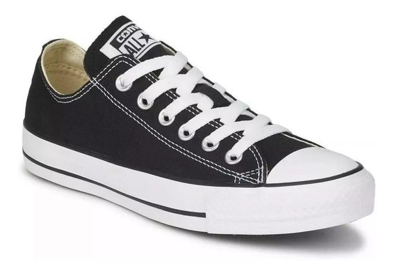 Zapatilla Converse All Star Negra De Lona 2020
