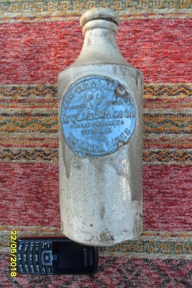 Antigua Botella Porrón En Gress Lagomarsino Bs. As. C Italia