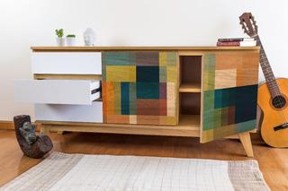 Mueble De Tv Intervenido Diseño Escandinavo Aparador 150