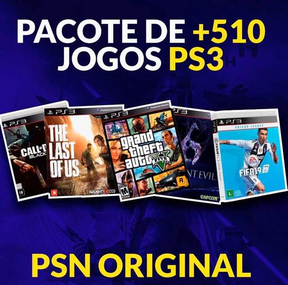 Jogos De Ps3 - Pacote 500 Jogos - Leia A Descrição- Fifa Pes