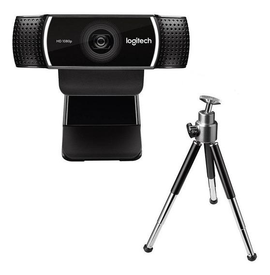 Webcam Logitech C922 Pro Com Tripé Full Hd Câmera Nfe