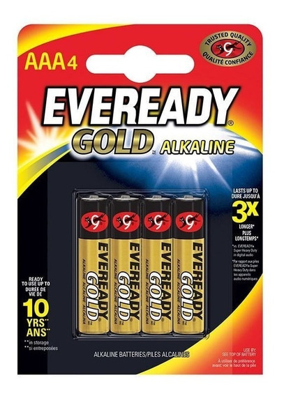 Pilha Eveready Alc.gold Palito Aaa4 10 Cart.c/4 - 40 Pilhas