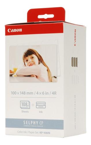 Imagen 1 de 1 de Kit Canon Papel Y Tinta De Color Para Selphy Kp-108in
