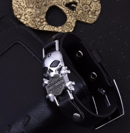 Pulseira E Anel Harley Davidson Hd Custom Chopper Bracelete