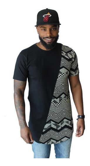 Camiseta Oversized Plus Size Longline Camisa Masculina Extra