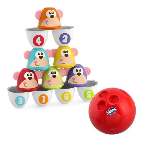 Juego Set De Bolos Bowling Infantil Monkey Strike Chicco