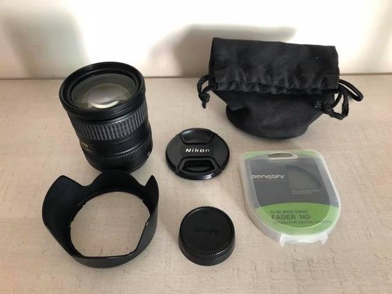 Lente Nikon 18-200mm 1:3.5-5.6g Ed Vr + Acessórios. Promoção