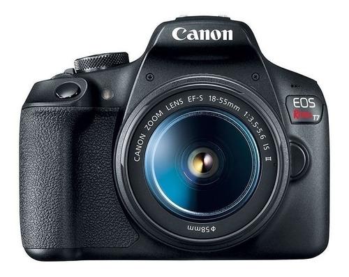 Imagen 1 de 4 de Canon EOS Rebel T7 18-55mm IS STM Kit DSLR color  negro
