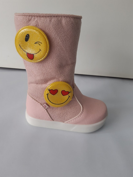 Bota Infantil Pinókio 50502 Fashion Rosa 9142 Luz De Led