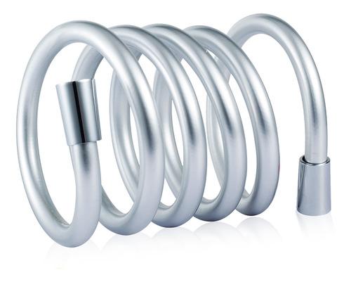 color plateado flexible reemplazo universal Manguera de ducha de PVC suave de 2 m antitorsi/ón y a prueba de fugas