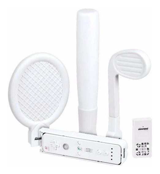 Kit Sports 4 Em 1 Para Nintendo Wii Maxprint 62007-2 Lacrado