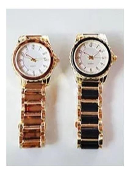 Relógio Masculino Clássico A Quartz Com 12 Strass.