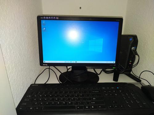 Pc Acer Con Monitor Benq 15  Funcionando.
