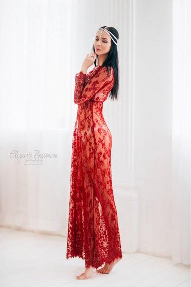 Vestido Colors Longo Em Renda Gestante Ensaio Fotográfico