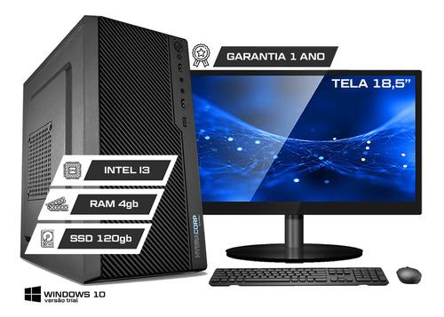 Imagem 1 de 10 de Computador Office Completo Intel Core I3 4gb Ddr3 Ssd 120gb